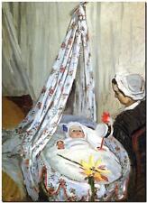 "CLAUDE MONET ~ Baby in Cradle ~ *FRAMED* CANVAS ART Poster ~ 16""X 12"""
