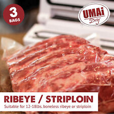 Umai Dry Age Bags | Ribeye Striploin Sized Bags for Dry Aging Steak at Home