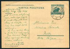 1936 Poland Ukraina Galicja cover letter postcard Zaleszczyki