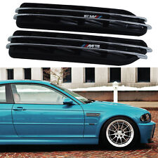 E36 E46 E90 Black M Side Fender Air Flow Vents Grille Grill For BMW M3 3 Series
