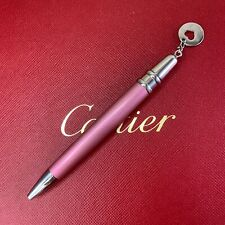 Authentic Cartier Mini Ballpoint Pen Pink with Charm with No Box