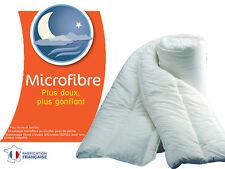 COUETTE MICROFIBRE 450g/m² CHAUDE DOUCE GONFLANTE ANALLERGIQUE 220X240