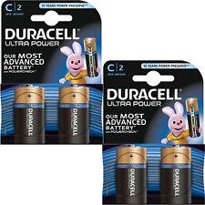 4X Duracell Ultra Power C Tipo Pilas Alcalinas Duralock - 1.5vV LR14 MX1400