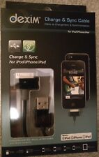 Sync & Charge Cable for iPhone, iPod and iPad (Black) [Dexim DWA008B]