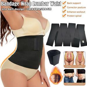 Lumbar Waist Support Snatch Me Up Bandage Wrap Sauna Belt Trimmer Body Shaper US