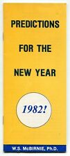 """1981 Booklet: """"Predictions For The New Year - 1982"""""""