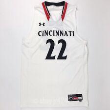 New Under Armour Men's L Cincinnati Bearcats Primetime Basketball Jersey White