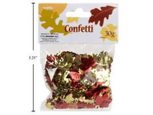 Foil Multi-Color Fall Maple Leaf  Confetti  1.06 Ounces 30g Gold, Orange & Red