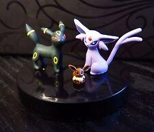 Tomy Yujin Japan Pokemon UMBREON ESPEON EEVEE Figure Set