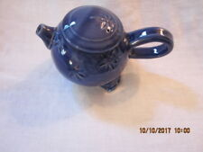 Handmade Pottery One Cup Teapot - Blue Glaze - ? Made in Maine