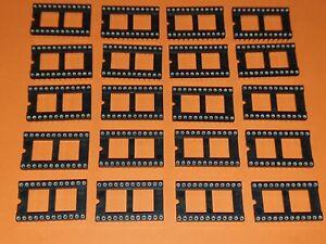 20x IC-Fassung 24-polig Präzisionsfassung / IC-Fassung / IC-Sockel DIL-24