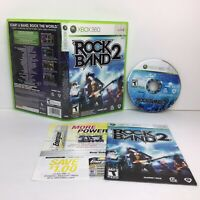 Rock Band 2 (Microsoft Xbox 360, 2008) with Manual - Tested & Working