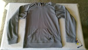 Russell Athletic Dri Power Youth Pullover Hoodie Hooded Sweatshirt Grey XL