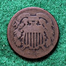 1864 TWO CENT PIECE with ROTATED REVERSE in ABOUT GOOD (AG) CONDITION