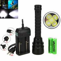 15000Lm 5x XM-L T6 LED Scuba Diving Flashlight Torch lamp Underwater 100m 18650*