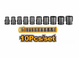 Ingco Impact Socket Set 1/2 Inch 10pcs