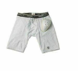 Compression Shorts w Cup Kids and Adults Baseball Football Karate Sparring