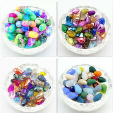 Mix Lots 80pcs Faceted Glass Crystal Teardrop Loose Beads Jewelry Making 8x12mm