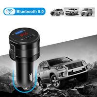 USB Charging Ports Wireless Bluetooth Car FM Transmitter AUX Radio Music Player