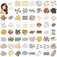 DIY Hair Braid Dreadlock Beads Pins Rings Cuff Clips Tibetan Spiral Jewelry Lots