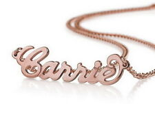 Personalized Name Necklace 18k Rose Gold Plated over Silver - Any name