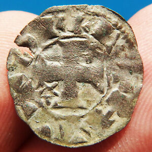 MEDIEVAL SPANISH KNIGHTS TEMPLAR CROSS COIN EUROPEAN CRUSADER 11-12th Century