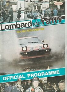 Lombard RAC Rally Official Programme 1980