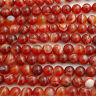 Grade A Banded Carnelian Red Agate Gemstone Round Beads - 4mm 6mm 8mm 10mm