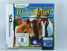 Abenteuer auf dem Reiterhof für Nintendo DS/Lite/XL/3DS - OVP - Gut