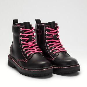 Lelli Kelly LK 5550 Doris Girls Boots Black With Pink stitching (New  Season)