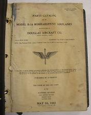 1941 B-18 Bombardment Airplane Parts Catalog