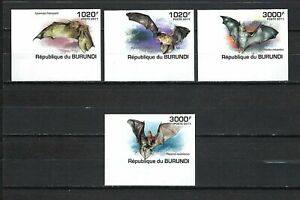 Burundi 2011 Sc#837-840  Bats  MNH Imperf. Set $15.00