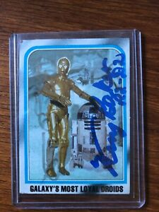 Star Wars signed trading card