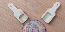 1:12 Scale 2 Wooden Scoops 2cm x 0.8cm Tumdee Dolls House Miniature Kitchen