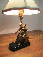 J. B. Hirsch Bronze Finish & Ivorine Cellist Lamp J. Ruhl 1932