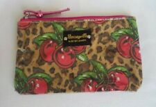 Betseyville By Betsey Johnson Vtg 90's Cherries & Cheetah Print Cosmetic Pouch
