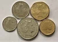 🇦🇺2019 5 Coin SET Australian 5c 10c 20c $1 $2 Coins Collectable 📮FREE Postage