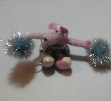 Cheer On In Dog Plush Sparkly Pink Cheerleader Pup Figure With Pom-Poms Habitat