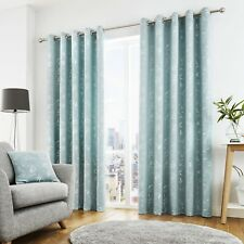 Living Room Curtains With Window Eyelet Duck Egg Width 229cm X Drop