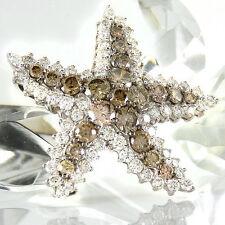 Anhänger Seestern 750 WG 63 weiße Diamanten 1,73 ct - 21 braune Diamanten 2,17ct