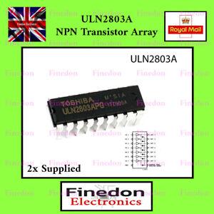 2 Pcs ULN2803A TOSHIBA Darlington Array IC UK Seller