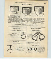 1927 PAPER AD Bean's Improved Tower's Phillip's Peerless Hand Cuffs Nippers