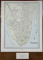 "Vintage 1900 CHARLESTON SOUTH CAROLINA Map 11""x14"" ~ Old Antique Original SC"