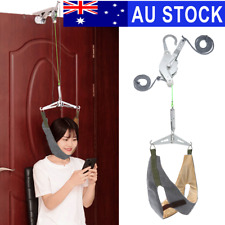 AU Over Door Neck Cervical Traction Stretch Gear Brace Pain Relief Head Relax