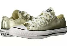 Converse All Star OX Mens 9 Metallic Light Gold 153181F Shoes Sneakers Trainers