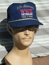 WW2 VETERAN 50th Anniversary Embroidered Baseball Cap Proudly worn by a Vet