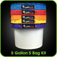 BUBBLEBAGDUDE Bubble Bags 5 Gallon Hash Bag Set - Herbal Ice Essence...