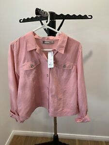 Sussan Ladies Size 16 Pink Linen/cotton Jacket New With Tags