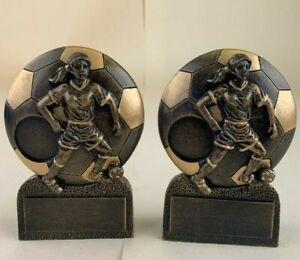 Football Trophies x2 Engravable (RIC1010)
