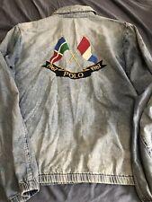 NWT POLO RALPH LAUREN CROSS FLAG DENIM JACKET XL NEW RETRO $300 Vintage 92